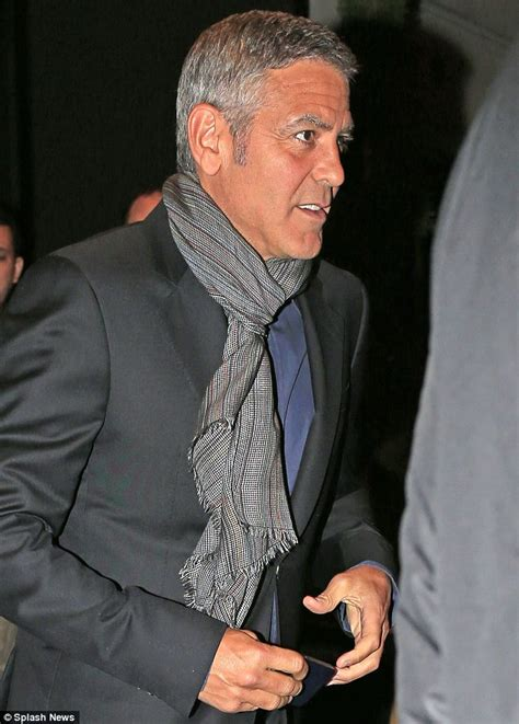 actor named george with a tan george clooney shows tan on date with girlfriend amal
