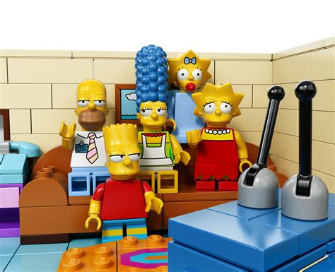 lego simpsons couch lego reveals the simpsons collectable minifigures