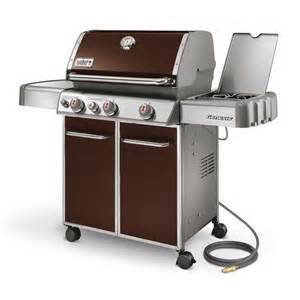 Weber genesis s 310 gas grill with design color brown