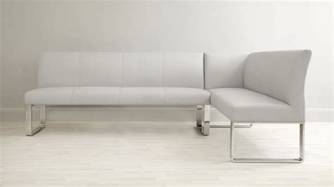 leather corner bench 7 seater left hand corner bench leather and chrome uk