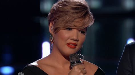 hairstyles on the voice tessanne chin quot many rivers to cross quot the voice