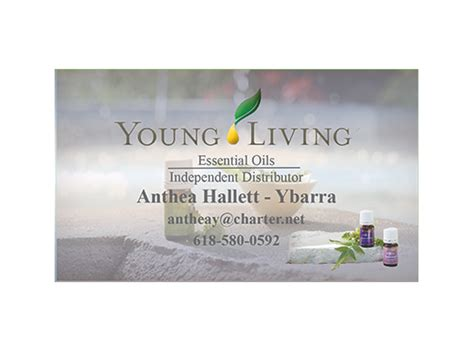 young living business cards fresh colors essential oil business card
