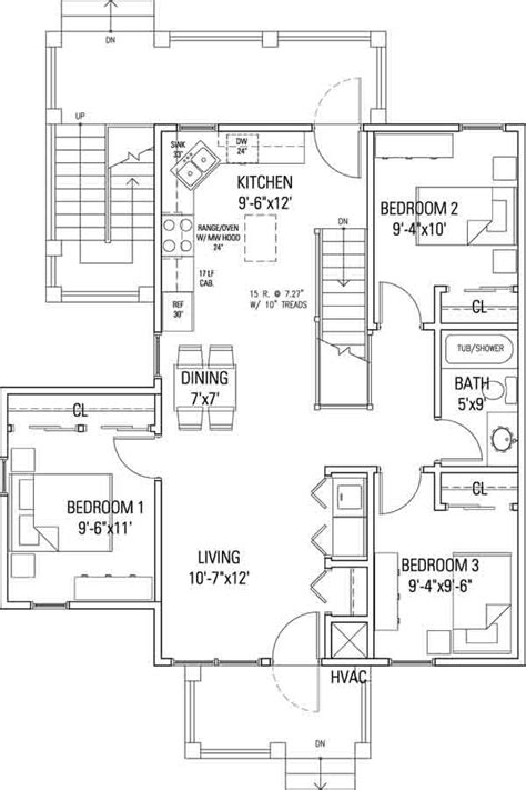 delaware commons cohousing 3br flat floor plan