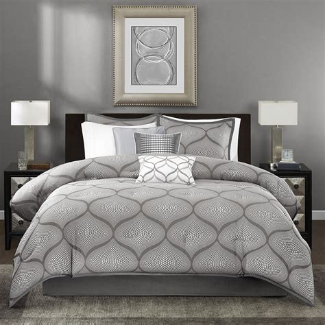gray bedding sets beautiful modern contemporary chic grey white silver