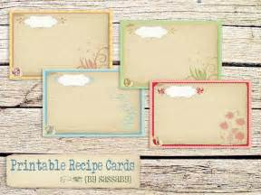 Dress up your recipe box with these fun printable 6 4 recipe cards mix