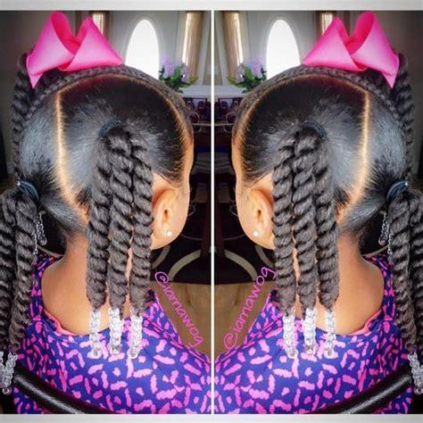 multi ponytail hair twist  beads  hair styles