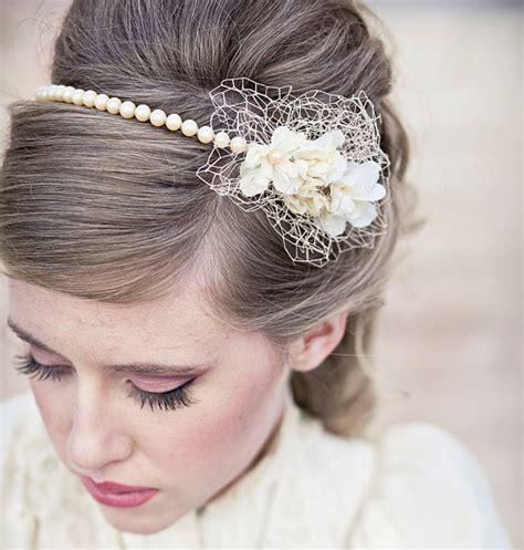 retro hairstyles with headband tutorial wedding hair vintage romance pearl headband or wedding tiara
