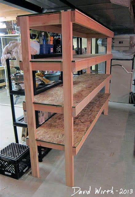 storage shelves  garage plans easy wood shelf design