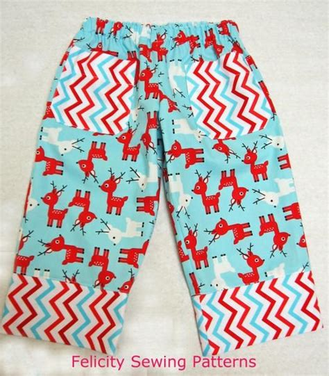 christmas pattern trousers free pattern play pants with christmas tree applique