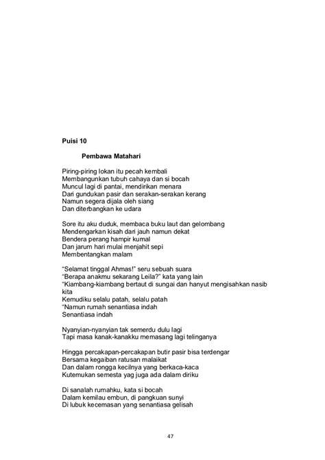 membuat puisi ke prosa analisis puisi