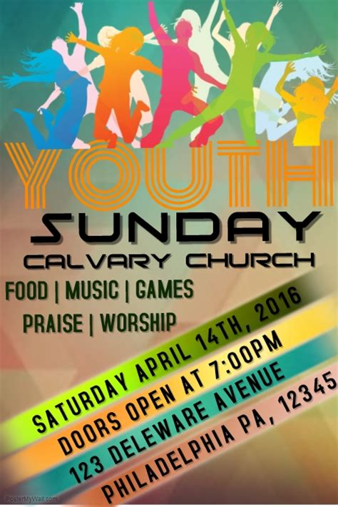 Youth Church Template Postermywall Youth Flyer Template Free