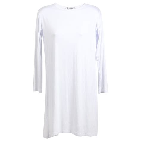 Plain Tunic by Plain White Sleeve S Sleeve Tunic Top T