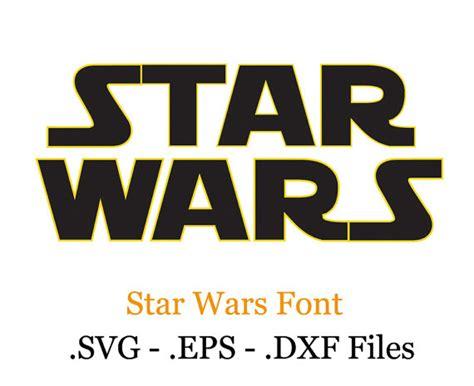 eps format fonts star wars vectors font eps svg dxf format files