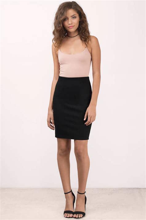 black skirt high waisted skirt pencil skirt black
