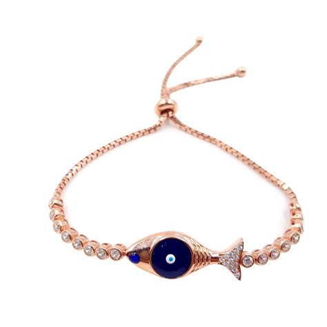 gold sterling silver evil eye bracelet cmb20159391 2