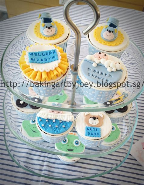 Baby Shower Theme Cupcakes by Baking By Joey Baby Shower Themed Cupcakes