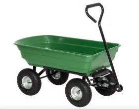 Large Gardener S Supply Cart Lawn And Garden Cart With Big Wheel Plastic Heavy Duty