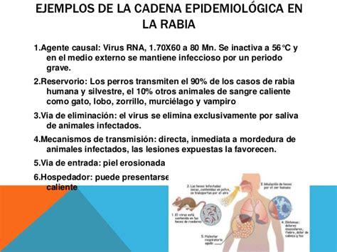cadena epidemiologica vias de transmision enfermedades transmisibles