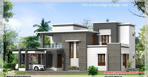 3 Bedroom Modern Flat Roof 28 Images Gandul 2000 Sq Contemporary Villa Plan And Elevation Kerala Home Design Kerala House Plans Home
