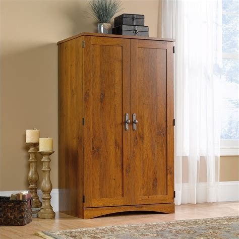 Oak Computer Armoire Harvest Mill Collection Oak Computer Armoire Ebay