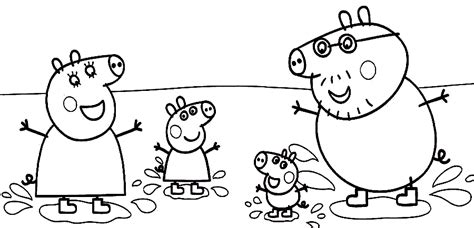 peppa pig christmas coloring pages peppa family muddy puddles coloring page peppa pig party