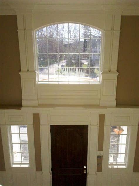 foyer window molding around the window foyer foyers