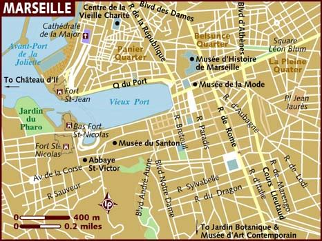 map of marseille map of marseille