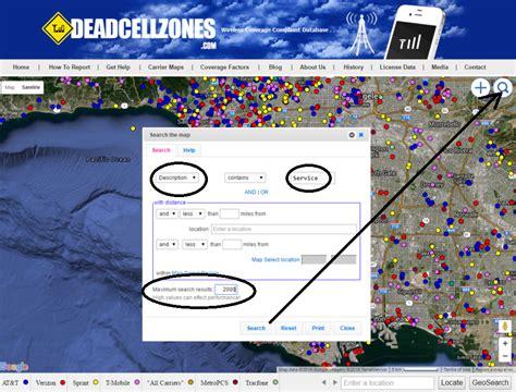 search dead zones  map