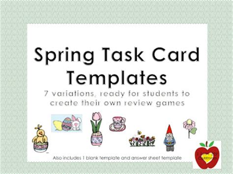 how to make task card templates i my classroom task card templates time to
