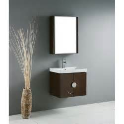 genova 24 quot single wall mounted bathroom vanity set with