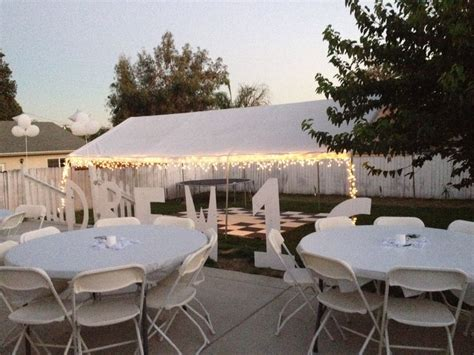 backyard party setup all white party backyard set up bridal shower
