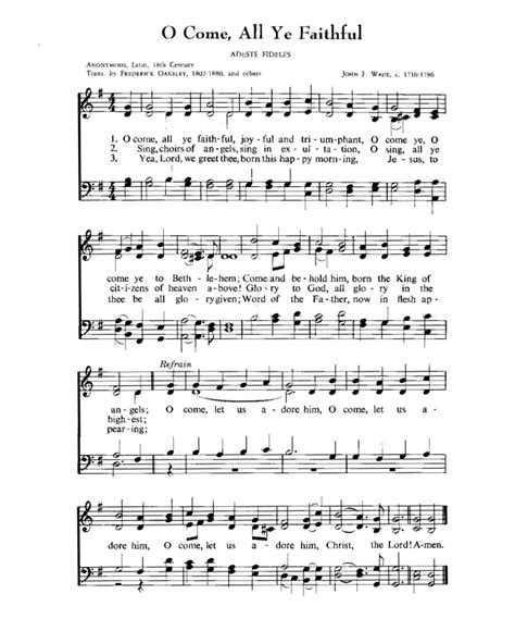 printable christmas hymns bible printables traditional christmas carols 8