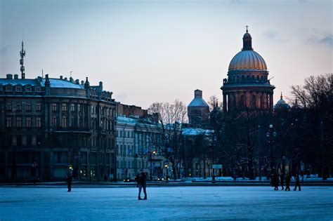 St Snow snow in st petersburg st isaac s cathedral wallpapers