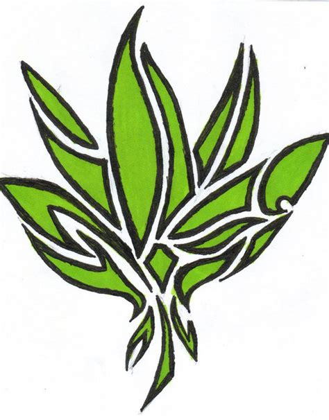 marijuana leaf tattoo designs symbol tribal pot leaf design jpg 790