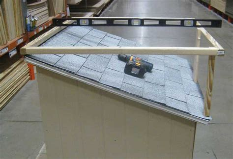 how to build a roof for a dog house how to build a dog house with sun deck at the home depot