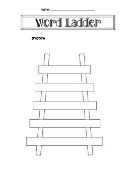Step Ladder Card Template by Word Ladder Template By Vang Teachers Pay Teachers