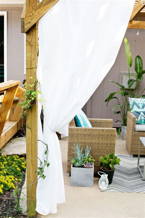 make your own outdoor curtains make your own outdoor pergola curtains a beautiful mess