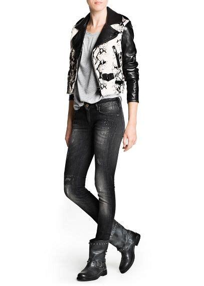 Comby Leather Jacket premium combi leather biker jacket leather