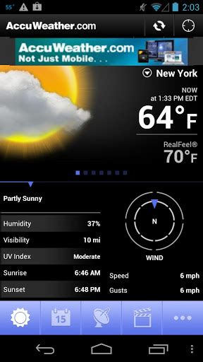 accuweather app for android free accuweather for android android apps on brothersoft