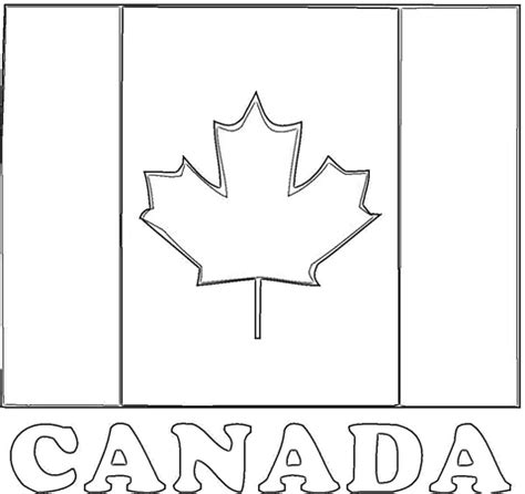 flag of canada coloring page supercoloring com