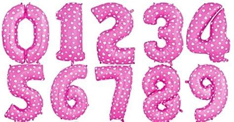 40 Inch Pink Hearts Numbers Foil Balloons 0 9   from