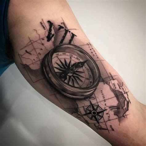 tattoo on inner shoulder compass tattoo symbolism meaning gives true direction