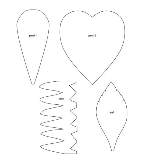 Printable Flower Petal Template Pattern 10 Beautiful Sle Flower Petal Templates Sle Templates