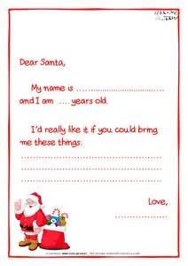 Santa Claus Letter Template by Ready Letter To Santa Claus Template Less Text Santa