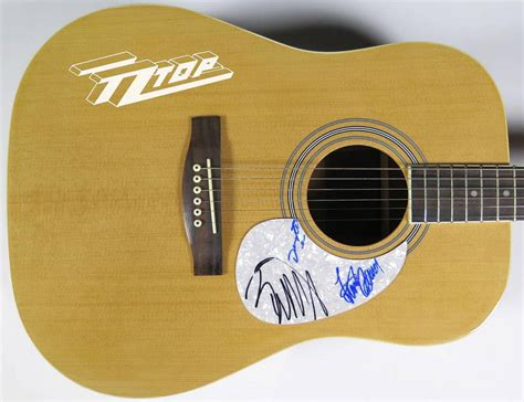 lot detail zz top billy gibbons signed quot lot detail zz top signed guitar by all 3 members billy