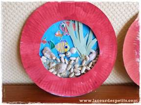 les petits poissons bricolage avec assiette en