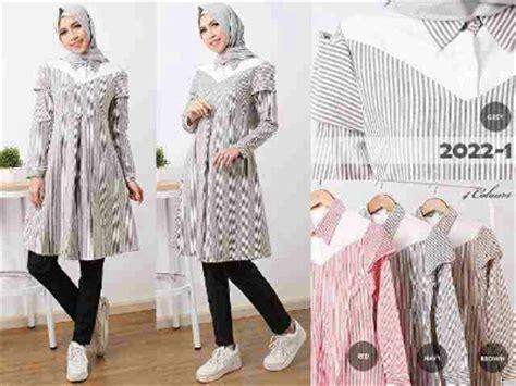 Atasan Tunik Lesa atasan tunik b045 baju muslim remaja modern