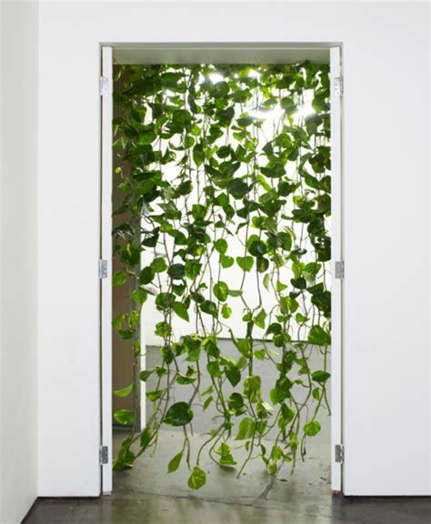 leaf curtains jungle leaves string door screen green plant curtain divider