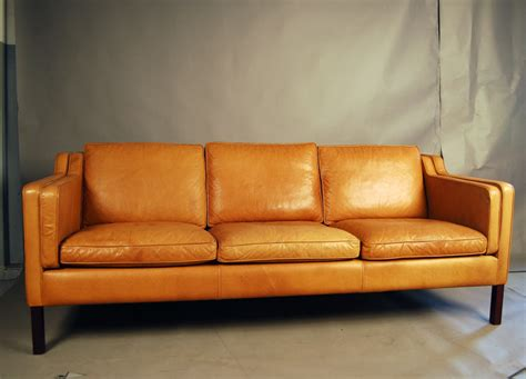 tan leather loveseat sold stouby tan leather sofa 33d076 danish vintage modern