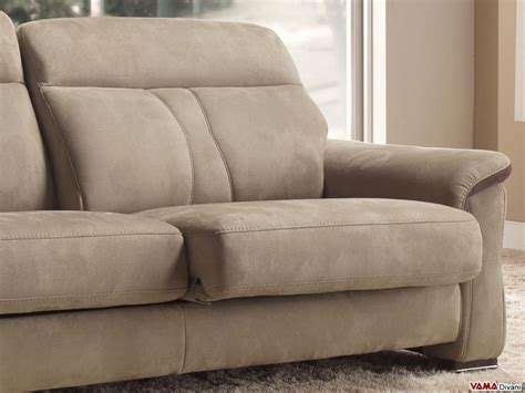 contemporary leather and fabric sofa with extendible seats